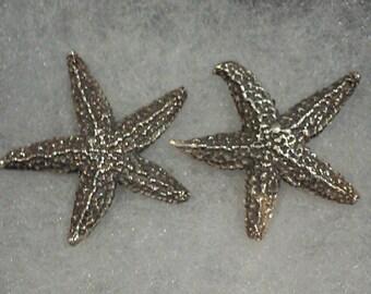 Sterling Silver Starfish Earrings