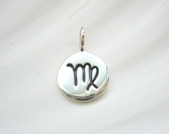 Sterling Silver Virgo Zodiac Charm - Add On - Astrological Sign