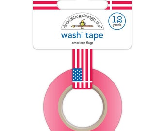 Doodlebug | Yankee Doodle Collection | Washi Tape | American Flags