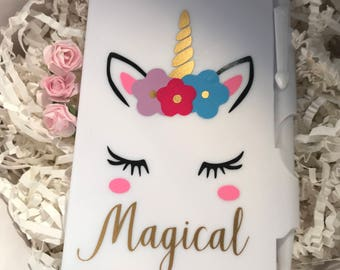 Magical Unicorn Hardcover Mini Notebook & Pen! Great baby shower favors, slumber party favor, birthday partyfavor, stocking stuffers
