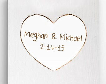 Personalized Love sign - Valentines sign - Hand Carved Canvas Print - CA0115