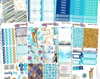 VERTICAL KIT, Winter Days, Weekly Sticker Kit, EC Vertical, Erin Condren, Planner Stickers