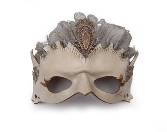 Leather ghost lady mask