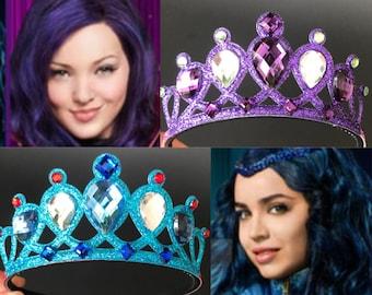 Descendants Crown,Disney Descendants 2,Devil Crown,Witch Crown,Maleficent Crown,Snow White step mom,Witch Costume,Devil Costume,Demon Crown
