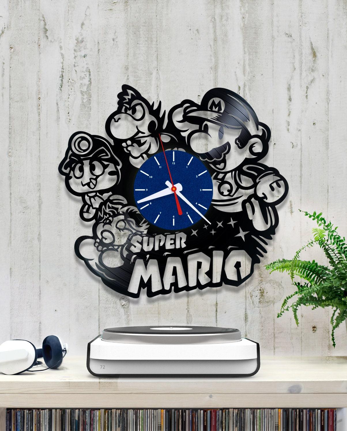Super Mario Bros Vinyl Clock Wall Clock V148 Vinyl Record