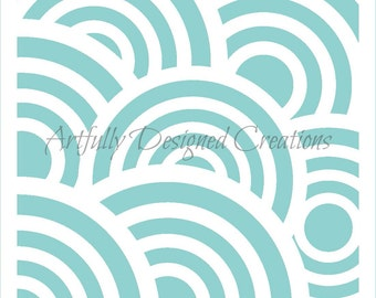 Circle Tiles Background Stencil