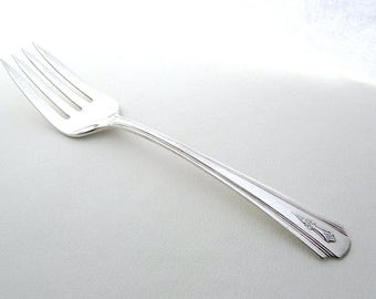 Vintage Serving Fork, Dorchester Plate, English Vintage, Art Deco Silverware, Thirties Tableware