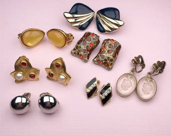 Vintage Jewelry Lot | Earring Lot | Clip On Earrings | Craft Supplies
