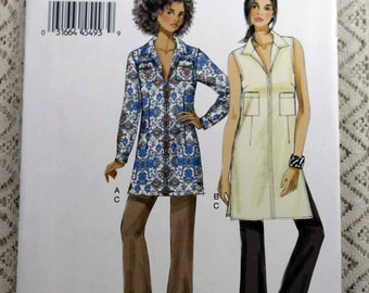 Vogue 9010, Misses' Tunic and Pants Sewing Pattern, Easy Tunic Pattern, Easy Pants Pattern, Misses' Size 6, 8, 10, 12, 14, Uncut