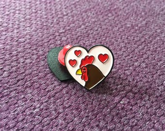 Love cock, enamel pin