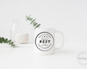 World's Best Dad Mug   Father's Day Gift   Best Dad Ever   Pregnancy Reveal Gift   New Dad Gift   Congratulations Dad   New Baby Dad Gift