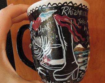 STEVIE NICKS, Rock Goddess Coffee and Tea Mugs,  You choose the lyrics.