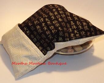 Ahhh-Maize-ing Corn Comfort Sak Multi Size Wrap 'Serene', Black, Gold, Cream, Microwave Corn Bag