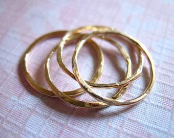 Stack Ring Knuckle Ring, Above Knuckle Ring Midi Rings, 14k Gold Fill Stack Ring, artisan organic hammered rings  sr1-1 c
