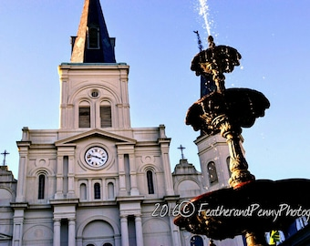 New Orleans Photography, New Orleans Prints, New Orleans Art, St.Louis Cathedral, Jackson Square, New Orleans Decor, New Orleans Pictures