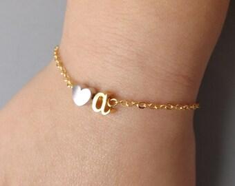 Children's initial bracelet, personalized flower girl bracelet, toddler bracelet, girls jewelry, toddler kids jewelry gifts,flower girl gift
