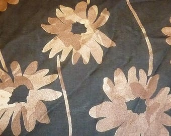 Sewing pattern and Brown chiffon large flowers