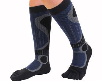 TOETOE - Sports - Ski/Snow Knee-High Toe Socks