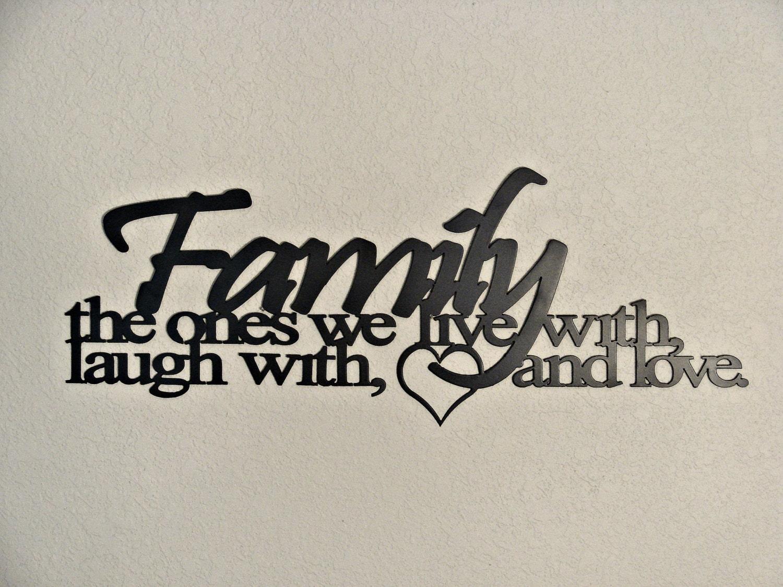 Metal Word Art Family Ties Cnc Plasma Metal Word Art Wall Hanging