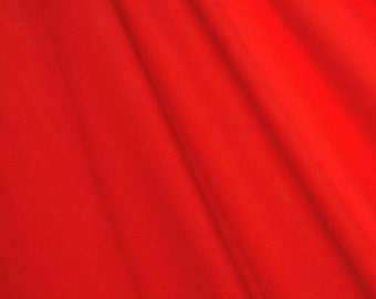 "58-60"" Crimson Red Matte Tricot-12 Yards Wholesale by the Bolt (SHMTM24)"