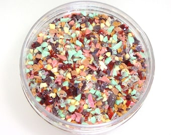 Spumoni Premium Frit Blend for Lampwork Bead Making 96 CoE Strawberry Pink Chocolate Brown Pistachio Mint Vanilla - Available in 2 sizes