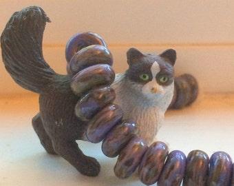 10 Donut Handmade Lampwork Beads - Lydia, 10mm (22678)