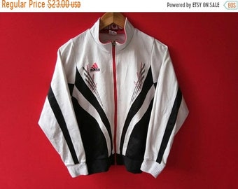 vintage adidas equipment jacket fully zipper small size