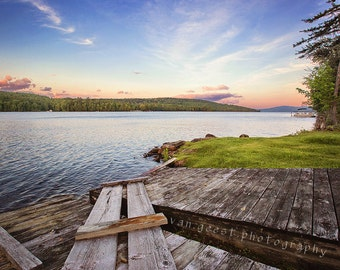 Old Dock at Sunset in Rangeley Maine