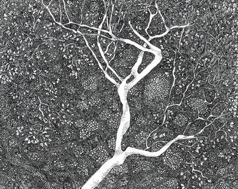Tree Print Golden Age