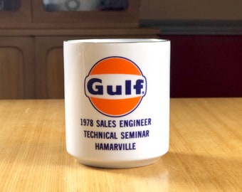 Vintage 1978 Gulf Oil Company Cup Advertising