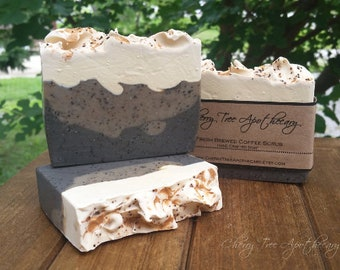 Fresh Brewed Coffee Soap - Handcrafted Soap - Bar Soap