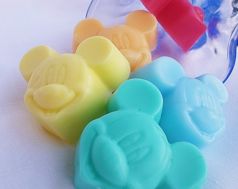 10 MICKEY MOUSE SOAPS - Baby shower soaps ,Mickey soap favors with tags, Gift soap, Baby shower soaps for guests,  Mickey mouse  soap favors
