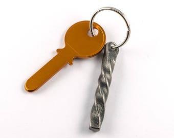 Wrought iron gift - keychain handforged - blacksmith made