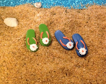 Miniature Flip Flops Fairy Garden Accessories, Miniature Sandals