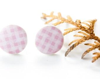 Valentines Day Jewelry, Pink Studs, Sweet 16 Jewelry, Abstract Earrings, Handmade Earrings, Stud Earrings, Gift For Girlfriend