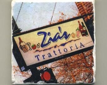 Zia's Trattoria in Edison Park -  Original Coaster