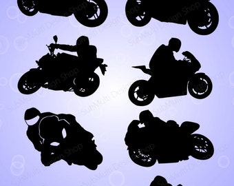 racing bike silhouette / motorbike silhouette / sports bike silhouette / SVG Cutting Templates  / SVG / EPs / DXf /JPG /PNg /commerical use