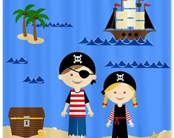 Pirate Life Kids Shower Curtain