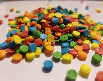 Round rainbow sprinkles 6oz