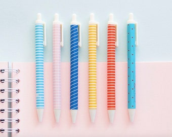 0.38 Black Jel Pen / Stationery / Writing Tools / Journal Pen / Planner Pen / Desk Accessory /