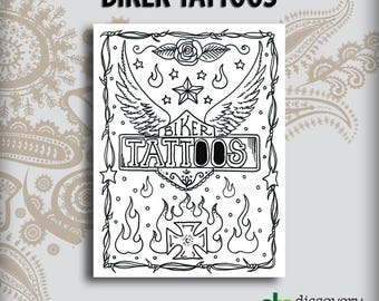 Biker Tattoos Design Book