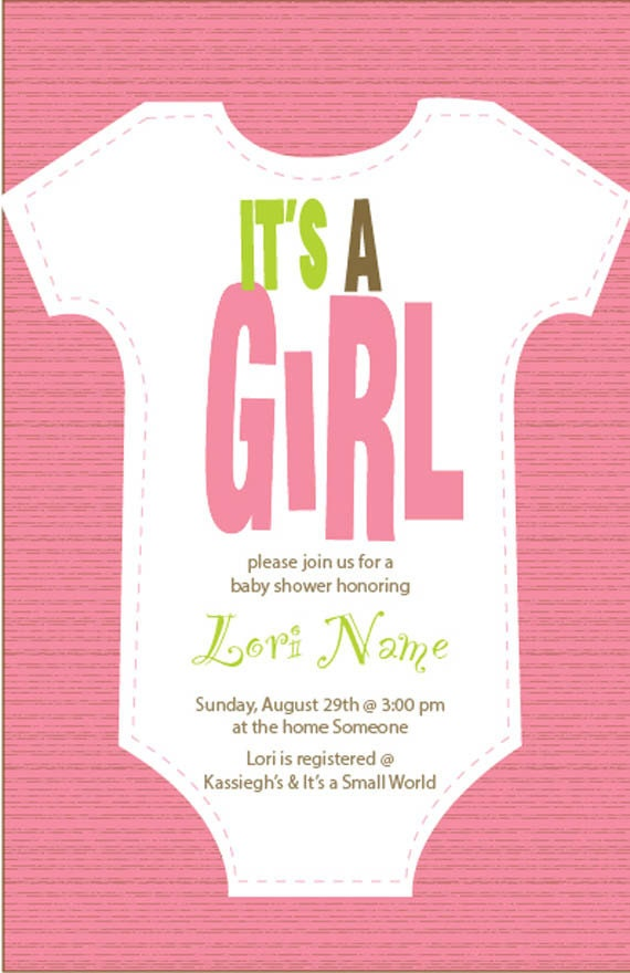 It\'s A Girl Baby Shower Invitation Printable Digital