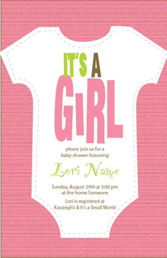 Elegant Items Similar To Itu0027s A Girl Baby Shower Invitation   Printable Digital  File Only On Etsy