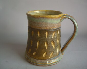 Hand thrown stoneware pottery beer mug   (BM-14)