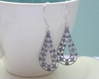 Minimal Silver Earrings - Simply Silver