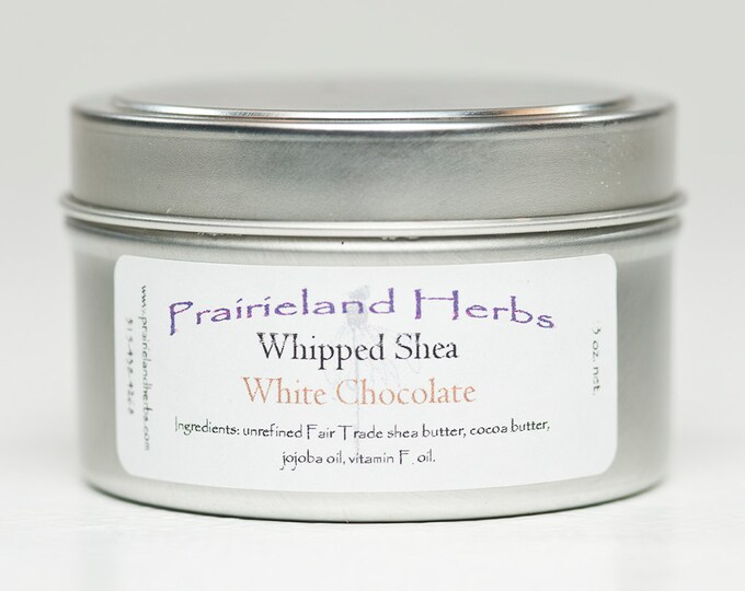 Whipped Shea Butters essential oil all natural fair trade vegan