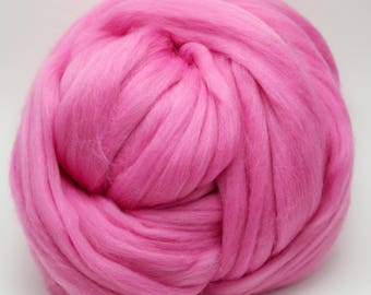 4 oz. Merino Wool Top - Orchid - Ships Free