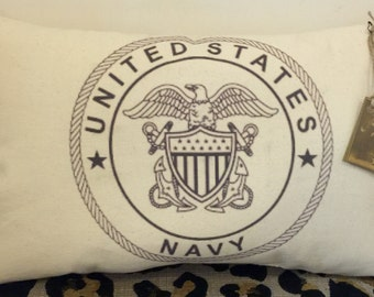 Army, Navy, Air Force, Marines, Coast Guard Pillow
