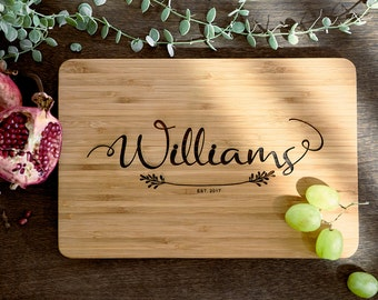 Personalized Cutting Board Personalized Custom Cutting Board Wedding Gift Cutting Board Engraved Cutting Board Anniversary Cutting Board #22