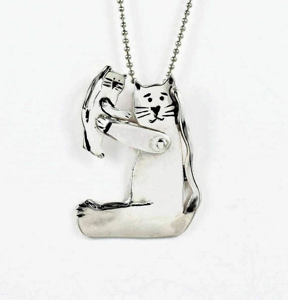 Cat lover jewelry for her sterling silver cat jewelry silver cat lover jewelry for her sterling silver cat jewelry silver kitty jewelry unusual cat jewelry robin wade jewelry kitty cats play 2192 aloadofball Gallery